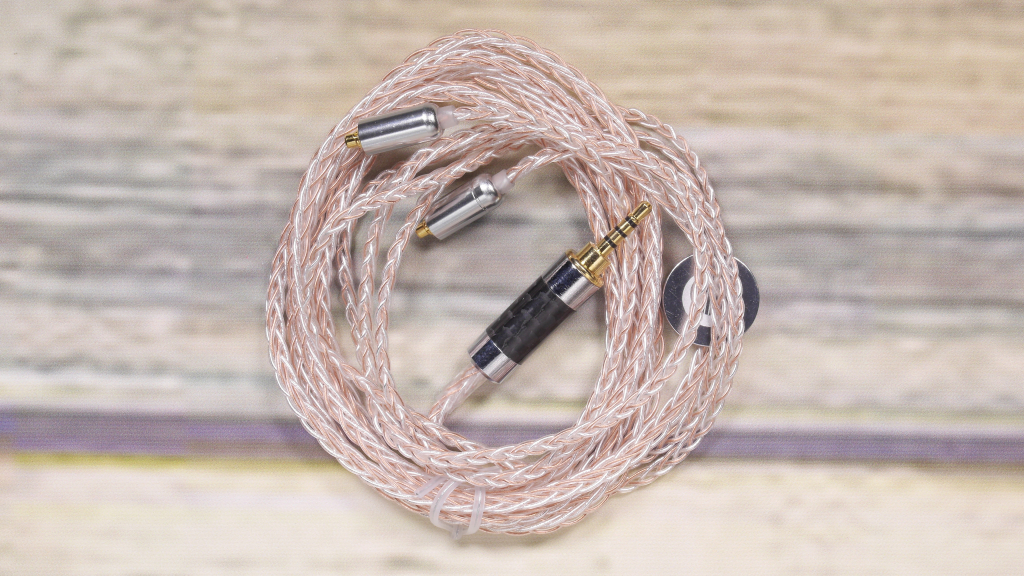 New NICEHCK MMCX/2Pin Interface 3.5/2.5mm Balanced 8-Core Copper Silver Mixed Cable