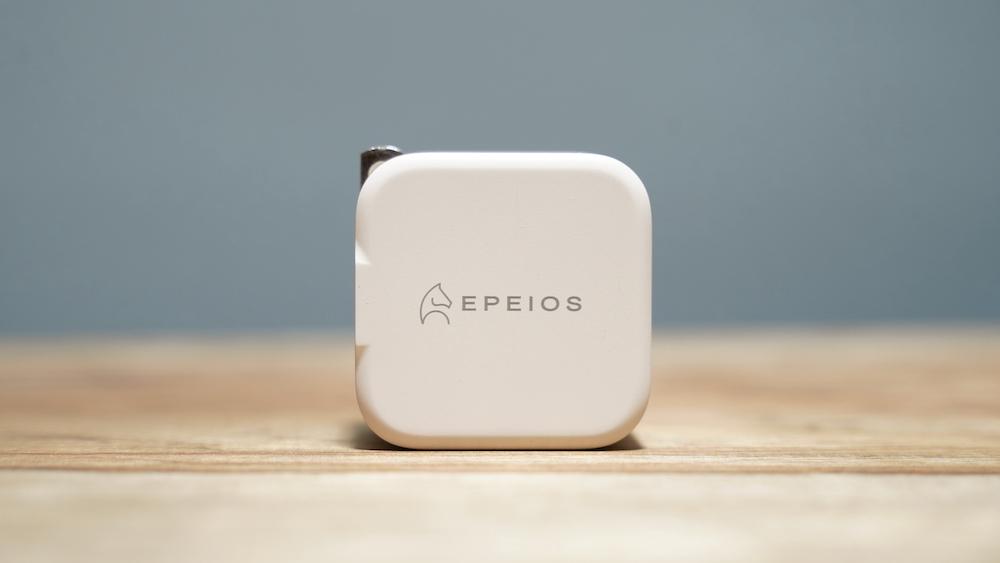 Epeios PD充電器 20W Type-C 急速充電器 2ポート本体正面