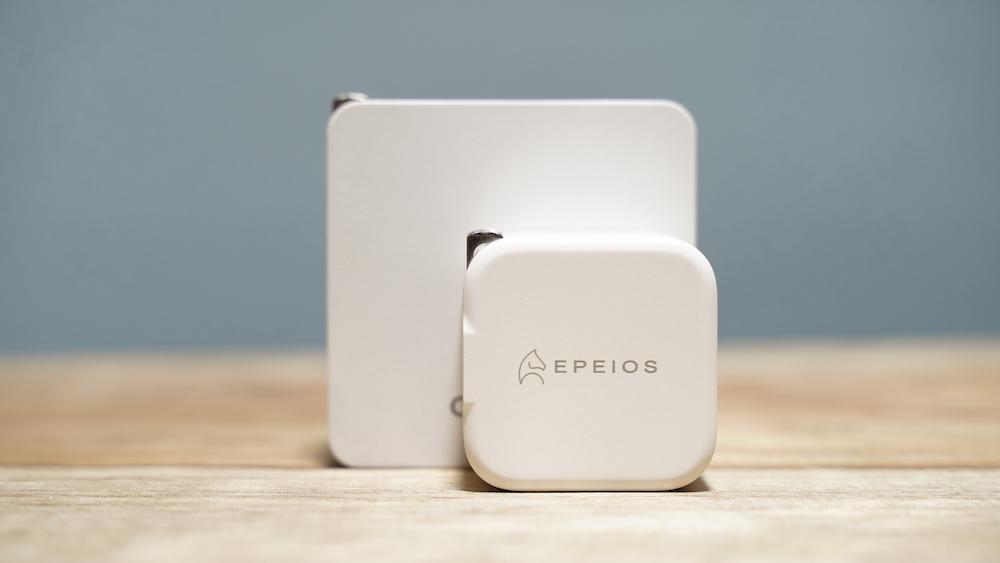 Epeios PD充電器 20W Type-C 急速充電器 2ポート大きさの比較正面